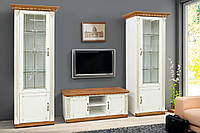 """Комплект мебели для гостинной """"Фридом"""" с тумбой ТВ (слоновая кость с патиной)"""