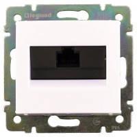 Розетка компьютерная RJ45 кат.5е UTP, 1-гнездо, белый - Legrand Valena