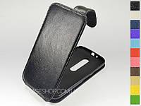 Откидной чехол из натуральной кожи для Motorola Moto G (3rd Gen.)