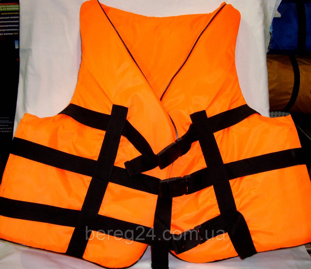 Спасательный жилет водный 110-130 кг оранжевый