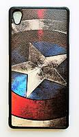 Чехол на Sony Xperia Z3+/Xperia Z3+ Dual My Color Силикон Капитан Америка, фото 1