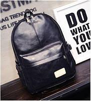 Рюкзак женский городской унисекс (черный), фото 1