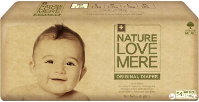 Подгузники NatureLoveMere, Original, Newborn (2-4кг), 54шт