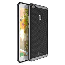 Чехол накладка для Xiaomi Mi MAX 2 силиконовый с пластиком IPAKY, Серый