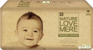 Подгузники NatureLoveMere, Original, размер S (4-7кг), 52шт