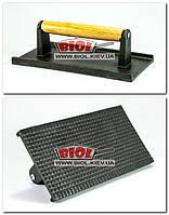Чугунный пресс (прижим) 11х21,5см 0.8кг (небольшая ребристость) Royal Industries (Тайвань) ROY STKW8