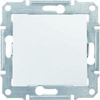 Выключатель проходной 1-клавишный, белый - Schneider Electric Sedna