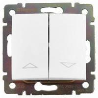 Выключатель жалюзи с электрической блокировкой, белый - Legrand Valena