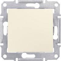 Выключатель 1-клавишный, слоновая кость - Schneider Electric Sedna (Код: SDN0100123)