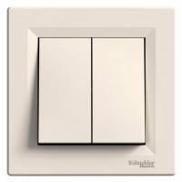 Выключатель 2-клавишный, слоновая кость - Schneider Electric Asfora (Код: EPH0300123)
