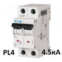 Автоматический выключатель PL4 2р 40А, С, Eaton