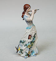 Статуэтка Девушка с флейтой 21 см Pavone