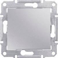 Выключатель 1-клавишный, алюминий - Schneider Electric Sedna (SDN0100160)