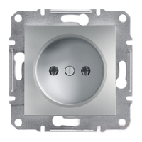 Розетка без заземления, алюминий - Schneider Electric Asfora  EPH3000161
