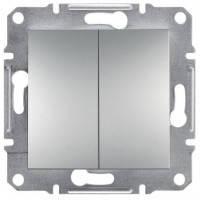 Выключатель 2-клавишный, алюминий - Schneider Electric Asfora EPH0300161