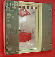 """Зеркальный навесной шкафчик с подсветкой для ванной комнаты (зеркало шкаф) м""""816"""""""