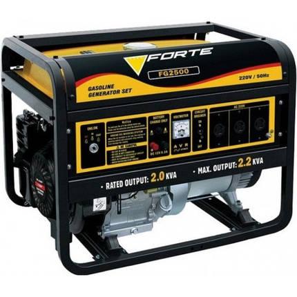 Генератор бензиновый Forte FG2500 (2,3кВт), фото 2