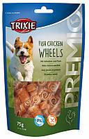Лакомство Trixie Premio Fish Chicken Wheels для собак с курицей и рыбой, 75 г, фото 1
