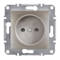 Розетка без заземления, бронза - Schneider Electric Asfora EPH3000169