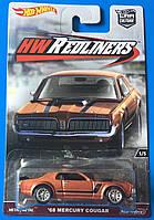 Коллекционная машинка Hot Wheels Mercury Cougar 68