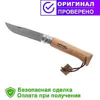Нож Opinel (опинель) Inox Adventure z rzemieniem №8 VRI Бук (001321)
