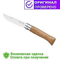Нож Opinel (опинель) Inox Natural №8 VRI Дуб (000647)