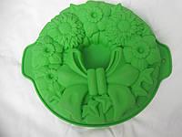 Силиконовая форма для пирога, 26х5 см., 107/97 (цена за 1 шт. + 10 гр.) , фото 1