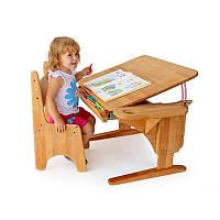 Детcкая парта стол из натурального дерева