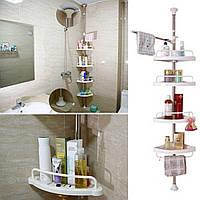 Полки для ванной Multi Corner Shelf, 4 уровня пластиковых полок для ванной
