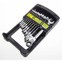 Набор ключей комбинированных трещоточных с карданом Alloid НК-2081-11К (8-19 мм, 11 предметов)