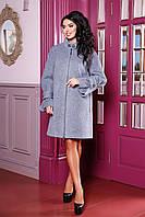 Женское демисезонное пальто свободного кроя В-984 Unito