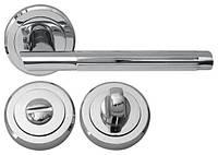 Дверная ручка RDA Milano 5250 с накладками-поворотниками хром