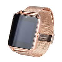 Умные часы телефон Smart Watch Z60 золотой c SIM картой