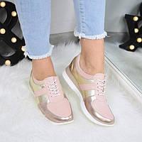 Кроссовки женские NJ Rose кожа 3513, спортивная обувь