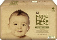 Подгузники NatureLoveMere, Original, размер M (6-9кг), 44шт
