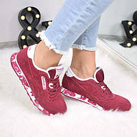 Кроссовки женские Reebok бордо 3517, спортивная обувь