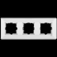 Рамка тройная горизонтальная Viko Meridian белая