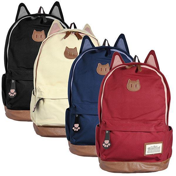 Великий тканинний рюкзак з вушками Lady Kat