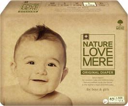 Підгузники NatureLoveMere, Original, розмір L (9-12кг), 40шт