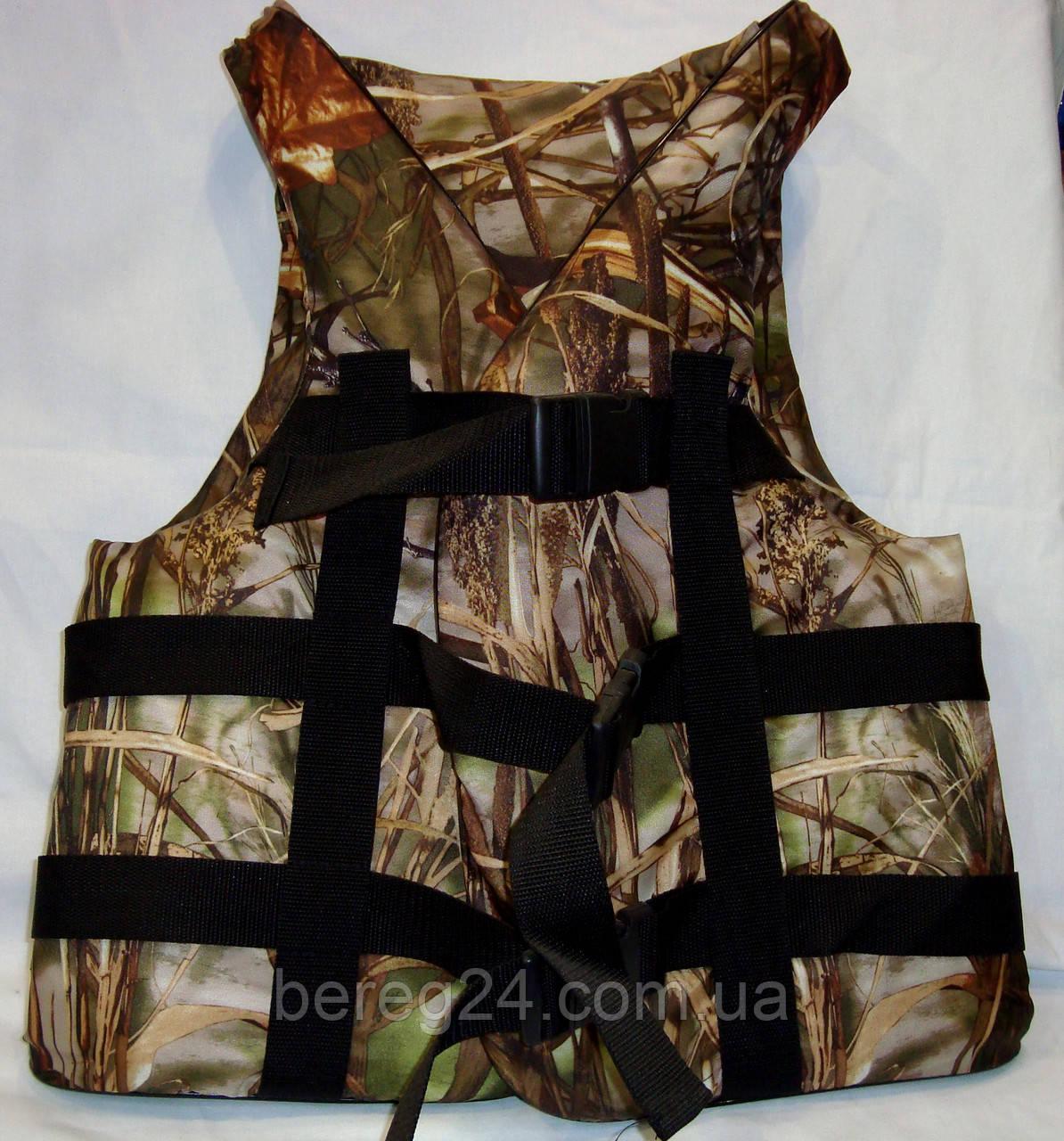 Спасательный жилет для рыбалки, охоты 90-110 кг Камыш