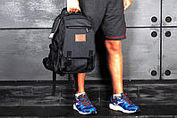 Рюкзак школьный городской спортивный, для ноутбука, мужской, женский, черный