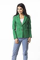 Молодежный пиджак классического кроя с подкладкой ЗЕЛЕНЫЙ, фото 1
