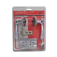 Комплект для межкомнатной двери RDA Imola защелка 6-45 + 2 петли хром/матовый хром (в блистере)