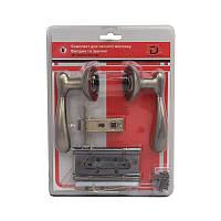 Комплект для межкомнатной двери RDA Imola защелка 6-45 + 2 петли матовая античная латунь (в блистере)