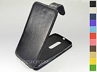 Откидной чехол из натуральной кожи для Motorola Moto X Style