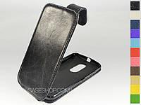Откидной чехол из натуральной кожи для Motorola Moto X2 (X+1)