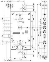 Замок для входных дверей 4-x ригельный с защелкой и вспомогательным замком под евроцилиндр Mottura 54797TBDR54 (без наклабок)
