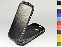 Откидной чехол из натуральной кожи для Motorola XT1032 Moto G
