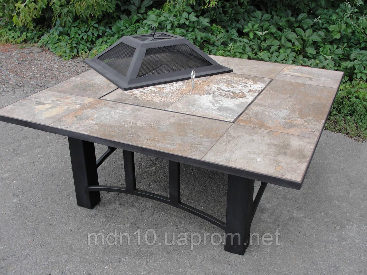 Садовый столик-барбекю (120x120х60 см)