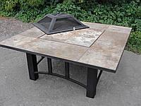 Костровой стол-барбекю с крышкой (120x120х60 см)